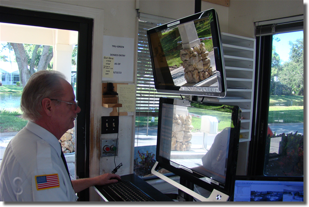Gatehouse software in use